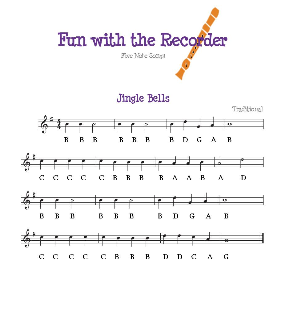 recorder notes with letters jingle bells primary choir 24228
